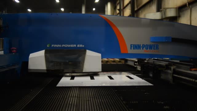 metal fabrication sheet metal machinery equipment giese manufacturing on february 14 2013 in dubuque iowa - sheet metal stock videos and b-roll footage