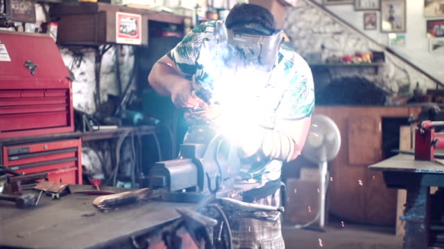 metal fabrication - fan enthusiast stock videos & royalty-free footage