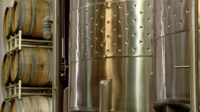 metal fermentation tanks for wine - storage tank stock videos & royalty-free footage