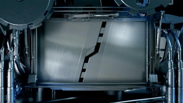 hd : メタルゲートのオープンおよびクローズ - 門点の映像素材/bロール