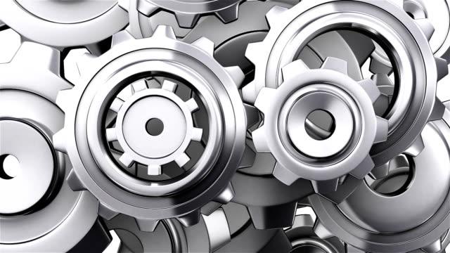 vídeos de stock, filmes e b-roll de hd: metal gear executando loop-capaz incluído alpha channel. - dente de engrenagem
