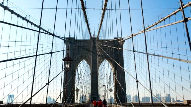 Metal grid on Brooklyn Bridge