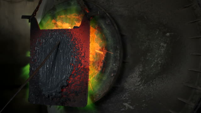 metal industry, fire in boiler that melts copper - metal industry stock videos and b-roll footage