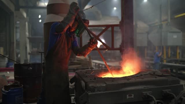 metal industry work - steel furnace - furnace stock videos & royalty-free footage