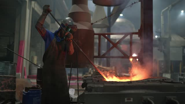 metal industry work - steel furnace - metal industry stock videos & royalty-free footage
