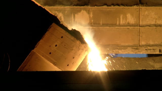metal industry-iron and steel factory - cast iron stock videos & royalty-free footage