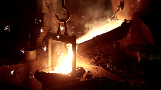 metal industry-molten steel - blacksmith stock videos & royalty-free footage
