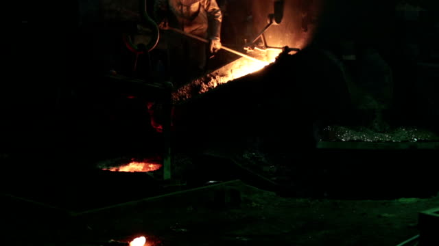 metal industry-molten steel - cast iron stock videos & royalty-free footage