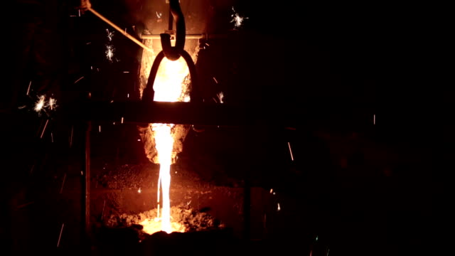 metal industry-molten steel - foundry stock videos and b-roll footage