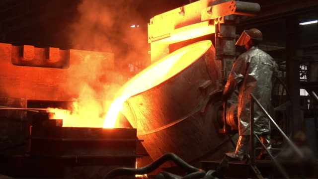 metal industry-molten steel - foundry stock videos & royalty-free footage