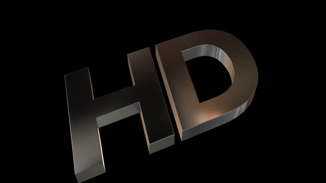HD Metal Logo with Alpha Channel
