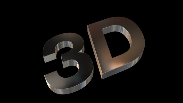 3D Metal Logo with Alpha Channel