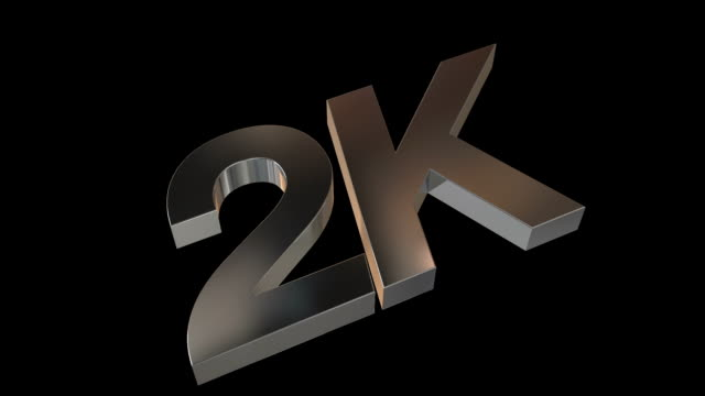 2K Metal Logo with Alpha Channel