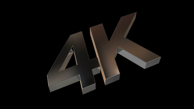 4K Metal Logo with Alpha Channel