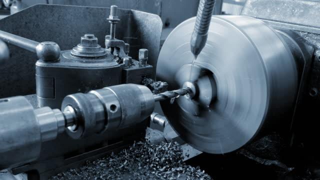 Metal Milling Machine in Process.