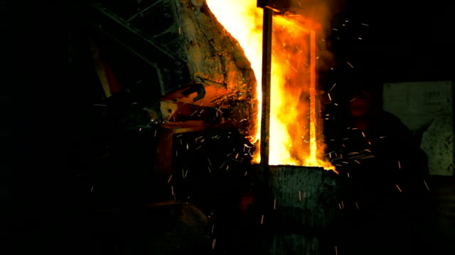 Metal smelting in the Foundry