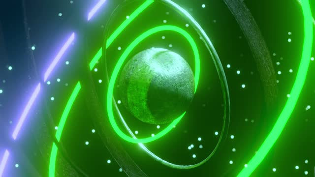 metallkugel-komplexmechanismus, der ringe um sie dreht - astronomie stock-videos und b-roll-filmmaterial