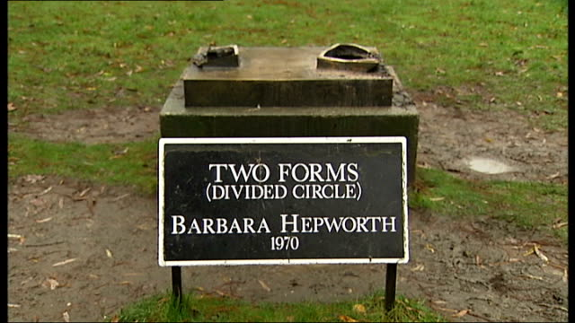 holocaust memorial plaque stolen t21121114 south london dulwich park ext name plaque for 'two forms and empty plinth where sculpture used to be... - memorial plaque stock videos and b-roll footage