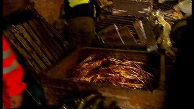 metropolitan police launch new taskforce to deal with rising crime t29071113 england london int network rail expert inspecting box containing copper... - cable box stock videos and b-roll footage