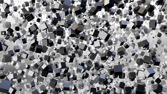 vidéos et rushes de résumé de cubes métalliques - brique