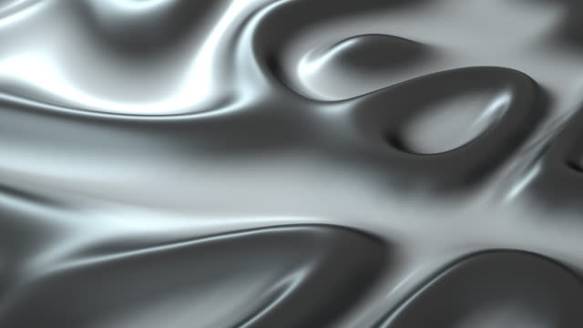 metallic moving liquid abstract modern background - silver coloured stock videos & royalty-free footage