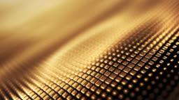 Metallic Wave Background (Gold) - Loop