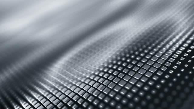 metallic wave background (silver / gray) - loop - gray color stock videos & royalty-free footage