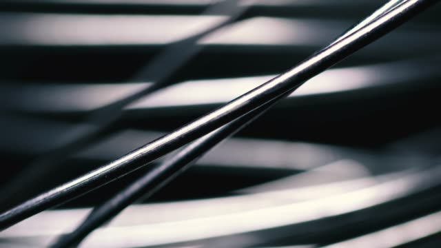 metallic wire tangled on black background - aluminium stock videos & royalty-free footage