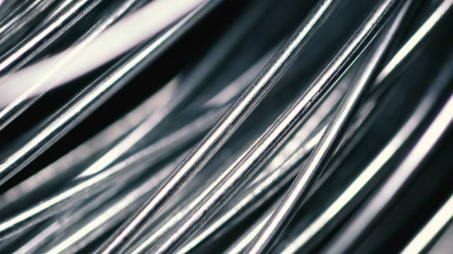 metallic wire tangled on black background - silver coloured stock videos & royalty-free footage