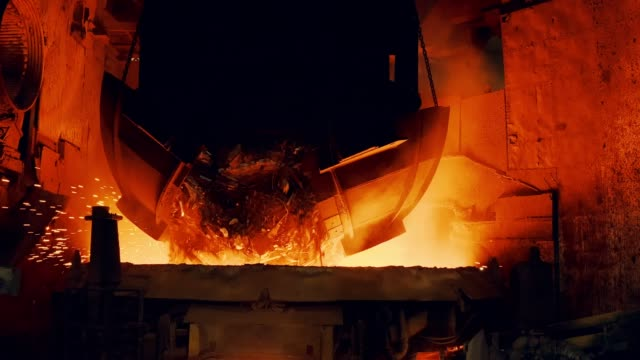 metallurgical plant - start steel furnace - metal industry stock videos & royalty-free footage