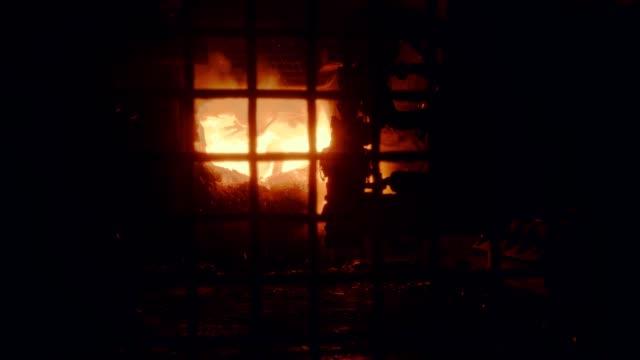 metallurgical plant - steel furnace torch - steel stock videos & royalty-free footage