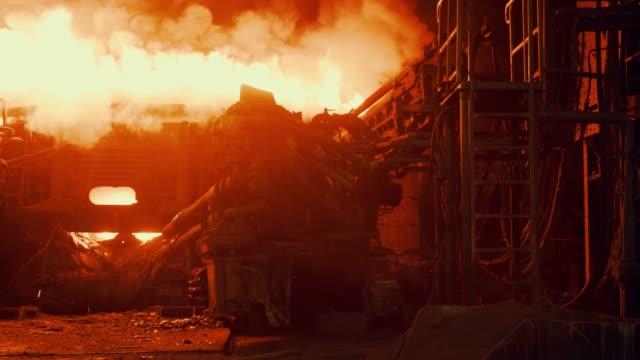 metallurgical plant - steel furnace - steel mill stock videos & royalty-free footage