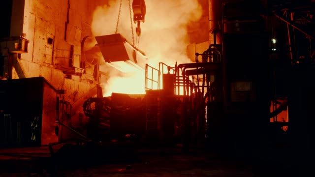 metallurgical plant - steel furnace - furnace stock videos & royalty-free footage