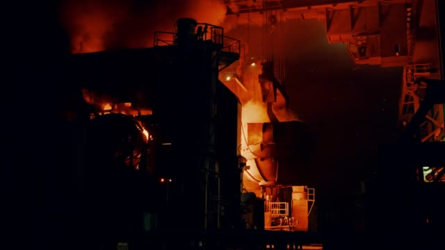 metallurgical plant - steel furnace - steel stock videos & royalty-free footage