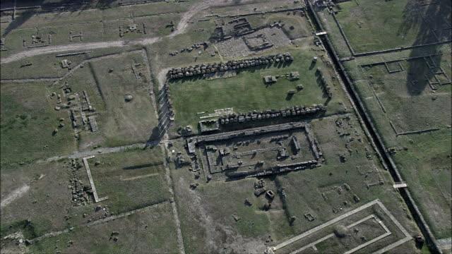 metapontum  - aerial view - apulia, provincia di taranto, castellaneta, italy - taranto province stock videos & royalty-free footage