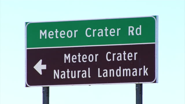 Meteor Crater Natural Landmark sign