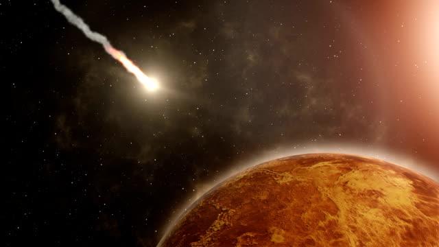 流星飛んで金星、および爆発の映像素材集 - 彗星点の映像素材/bロール