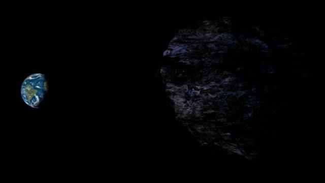 vídeos de stock e filmes b-roll de meteor heading to earth - meteoro
