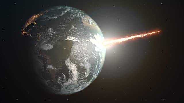 meteoreinschlag auf dem planeten erde - notfallplan konzepte stock-videos und b-roll-filmmaterial