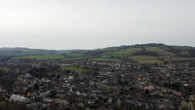 meteor rock 4.6 billion years old lands in gloucestershire driveway; england: gloucestershire: ext air view drone footage of gloucestershire where... - driveway stock videos & royalty-free footage