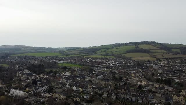meteor rock 4.6 billion years old lands in gloucestershire driveway; england: gloucestershire: ext air view drone shots of gloucestershire town. - driveway stock videos & royalty-free footage