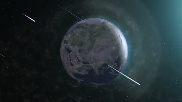 meteor shower and earth, 4k footage - distant stock videos & royalty-free footage