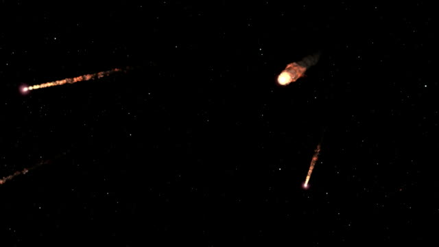 """meteor storm, animation"" - meteor stock videos & royalty-free footage"