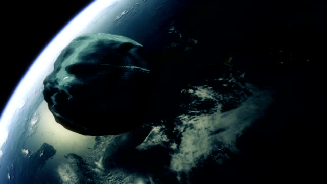 meteor towars earth - meteor weltall stock-videos und b-roll-filmmaterial