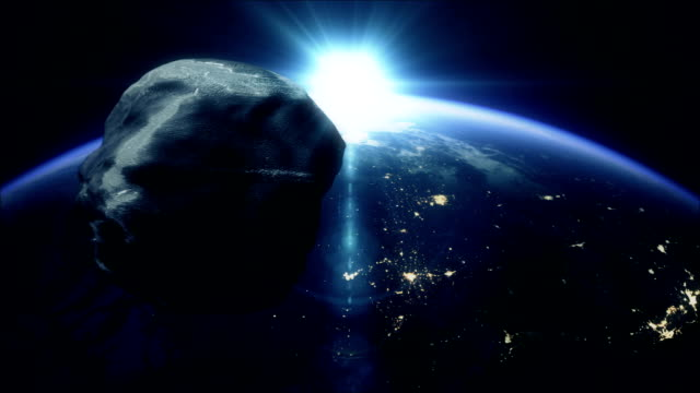 meteorite heading to earth - meteor stock videos & royalty-free footage