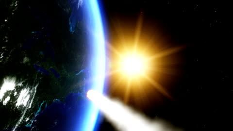 meteorite hitting earth - comet stock videos & royalty-free footage