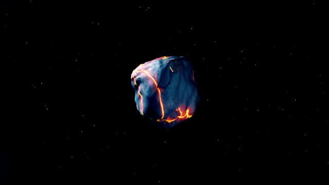 Meteorite towards earth