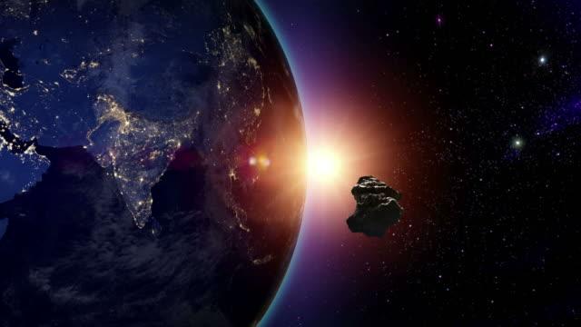 Meteoroid heading for Asia