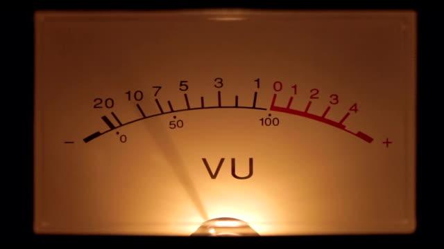 vu meter closeup 01 - meter instrument of measurement stock videos & royalty-free footage