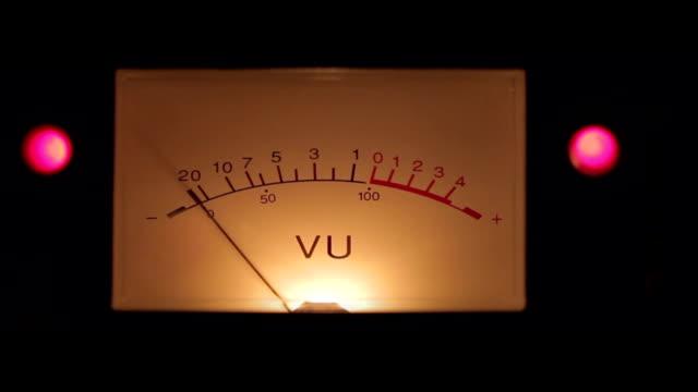 vídeos de stock, filmes e b-roll de medidor de vu detalhe 02 - medindo